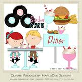 50's Diner Retro Clip Art Graphics Pkg 1