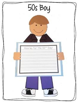 50s Kids {50th Day of School Craftivity}