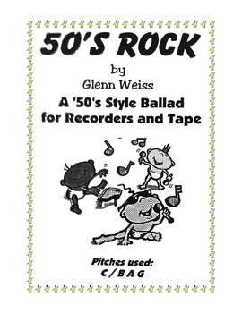 Recorder/iPad 50's ROCK (Fifties Style Accompaniment Included)
