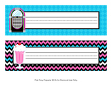 50's Sock Hop Desk Name Plates