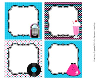 50's Sock Hop Table Numbers