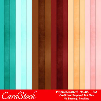 50's Soda Fountain Colors Cardstock Digital Papers