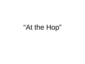 50's Song Lyrics Powerpoint Presentation