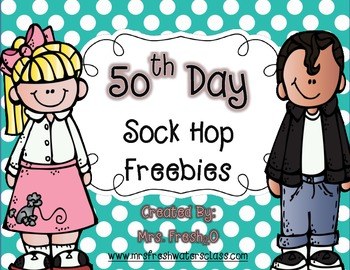 50th Day Sock Hop Freebies