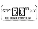 50th Day of Kindergarten Hat