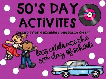 50th Day of School Activities!