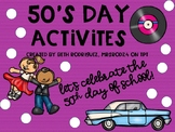 50th Day of School Activities!