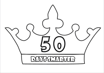 50th Day of School Activities, 50th Day Badges and Crown