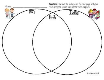 50th Day of School Book and Venn Diagram Worksheet