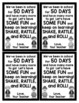 50th Day of School Cards for Students - Editable in color & black and white!