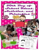 50th Day of School Centers and Printables for BIG kids!