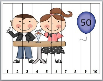 50th Day of School Counting Puzzle Activities ~ Numbers 1-50 {50 Days}