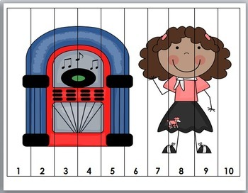 50th Day of School Number Puzzles - Numbers 1-50 {50 Days}