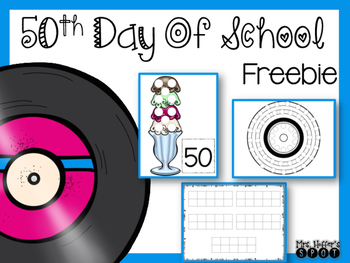 50th Day of School FREEBIE