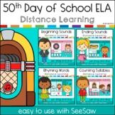 50th Day of School Kindergarten ELA Bundle SeeSaw Distance Learning