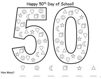 50th Day of School Math