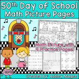 50th Day of School Math Picture Pages