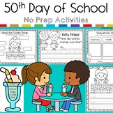 50th Day of School No Prep Activity Pack