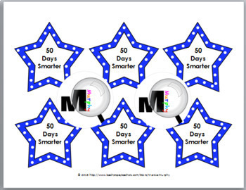 50th Day of School Ideas - Pencil Toppers / Badges {50 Days}