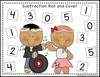 50th Day of School Roll & Cover Number Recognition & Addition Games!