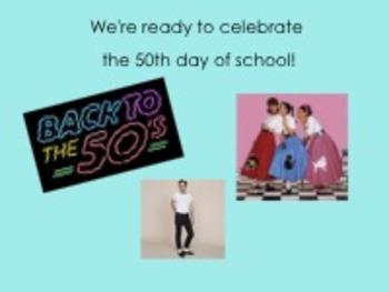 50th Day of School Smartboard Intro Lesson