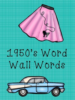 50th Day of School Word Wall Words