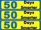 50th Day of School for 50 Days of Learning Bookmarks! Colo