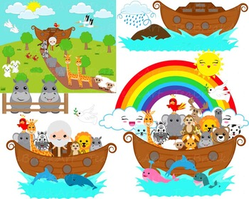 55 png files noah s ark clipart digital clip art by teabreakart rh teacherspayteachers com cute noah's ark clipart noah's ark clip art free