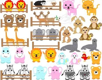 55 PNG Files- Noah's Ark ClipArt- Digital Clip Art