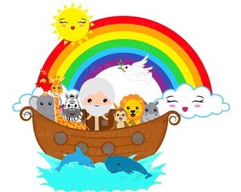 Flood and Rainbow Clip Art