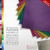 Digital Paper - Grunge + DIY Overlay