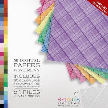 Digital Paper - Plaid + DIY Overlay