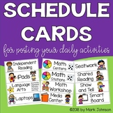 Schedule Cards for Posting Your Daily Activities