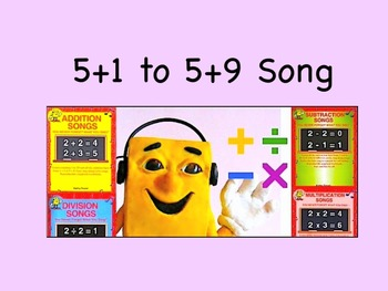 """5+1 to 5+9 mp4 Song Video from """"Addition Songs"""" by Kathy Troxel / Audio Memory"""