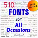 FREE - Fonts for Back to School, Worksheets, Flyers, and Beyond (K-12)