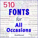 510 Fonts for Back to School, Worksheets, Flyers, and Beyond (K-12)