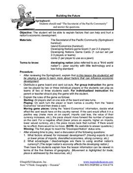 5109-14 Developing Nations Economics Game