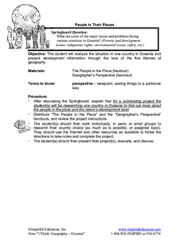 5109-15 Oceania Five Themes of Geography Project