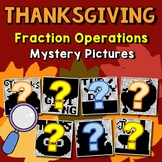 Mystery Picture Thanksgiving Fraction Operation Project, November Coloring Pages