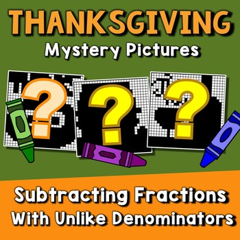 Thanksgiving Subtracting Fractions With Unlike Denominators