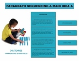 Paragraph Sequencing & Main Idea A Manipulatives