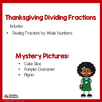 Thanksgiving Dividing Fractions by Whole Numbers