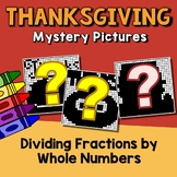 Math Coloring Thanksgiving Dividing Fractions By Whole Number Worksheets