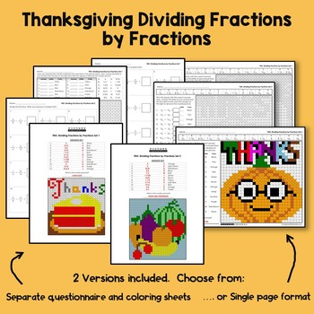 Thanksgiving Dividing Fractions by Fractions