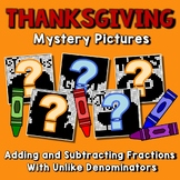 Thanksgiving Adding And Subtracting Fractions With Unlike Denominators Worksheet