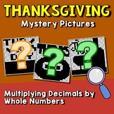 Thanksgiving Mystery Picture Math Multiplying Decimals By Whole Numbers Activity