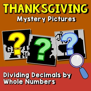 Thanksgiving Dividing Decimals by Whole Numbers