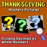 Thanksgiving Dividing Decimals By Whole Numbers Activity Mystery Coloring Pages