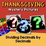 Decimal Division Worksheets, November Color By Code Mystery Picture Thanksgiving