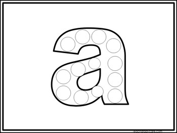 52 Alphabet Do-A-Dots Printable Activity in a ZIP file.Preschool-KDG.